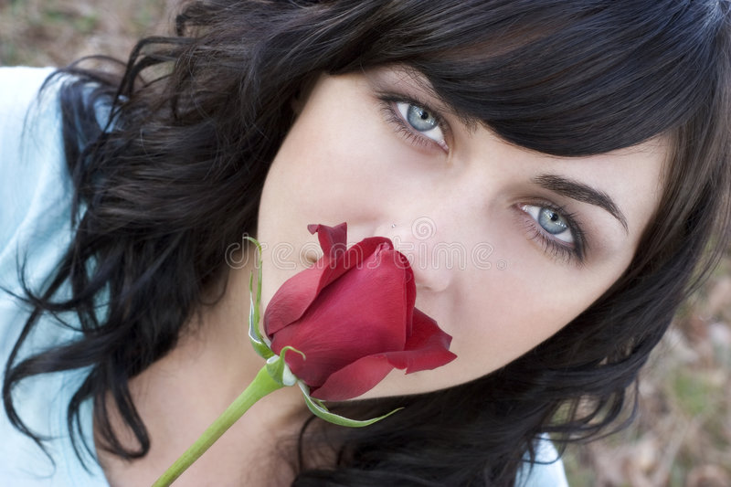 Download Rose Woman stock photo. Image of woman, pretty, flowers - 457504