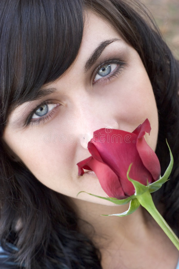Rose Woman royalty free stock photography
