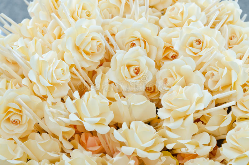 Rose wood flowers. Placed at cremation to pay respect to the dead royalty free stock photography