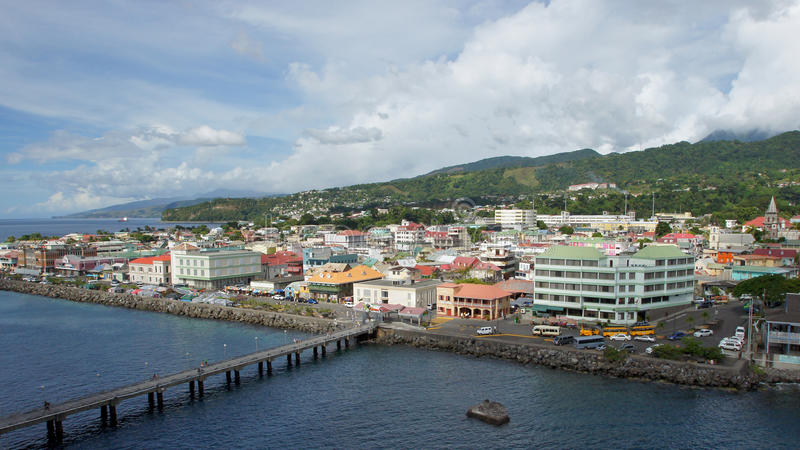 Roseau, Δομίνικα, καραϊβική στοκ εικόνες με δικαίωμα ελεύθερης χρήσης
