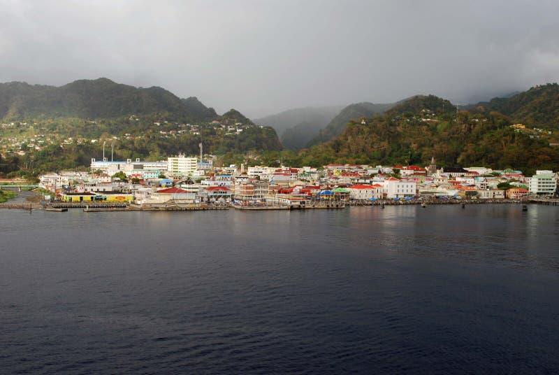 Roseau Dominica stock photo