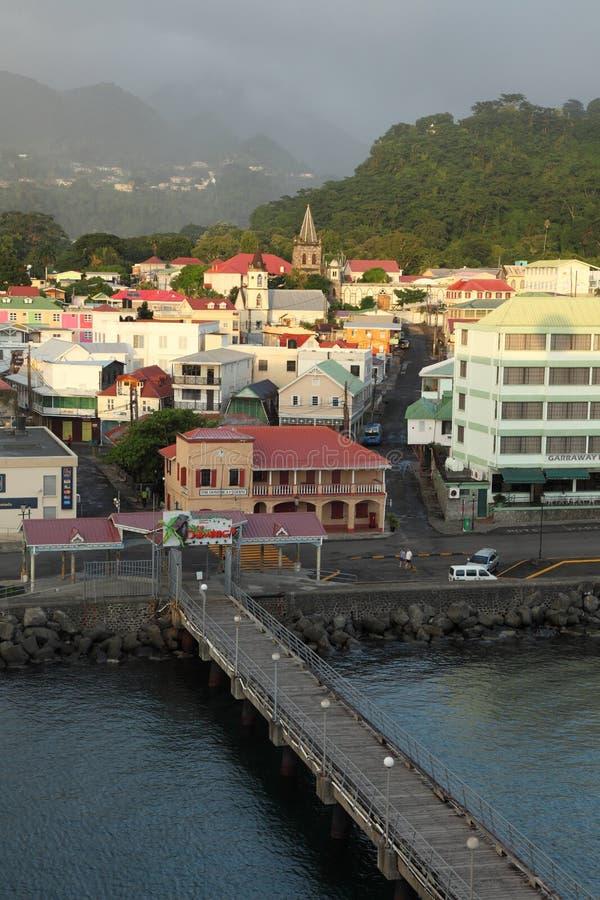 Roseau, Dominica, Caraïbische Eilanden stock afbeeldingen