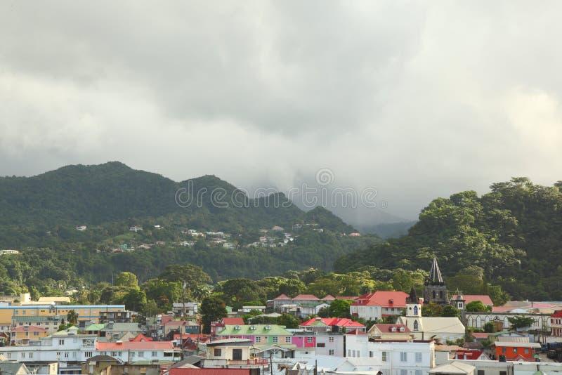 Roseau Dominica, karibiska öar royaltyfri foto