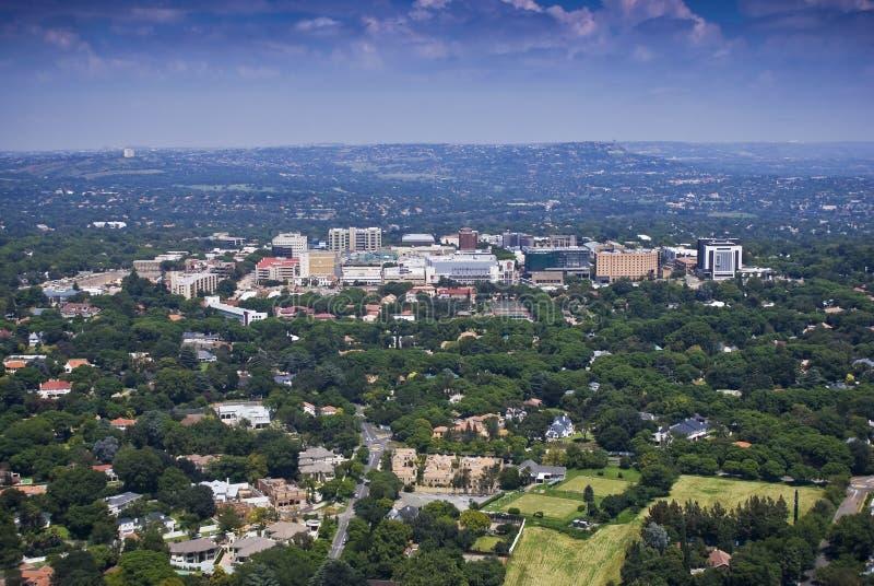 Rosebank CBD - Vista aerea - Johannesburg fotografie stock libere da diritti