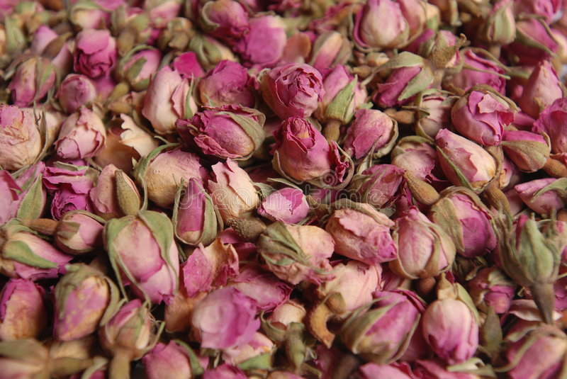 Rosebuds. Rose buds for tea royalty free stock photography