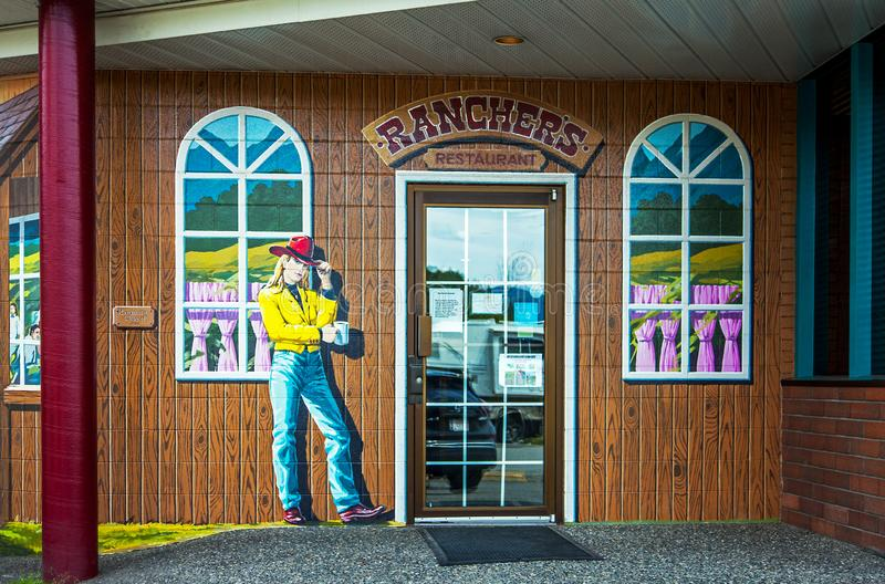 Rosedale,奇利瓦克,不列颠哥伦比亚省,加拿大别动队员餐馆 库存图片
