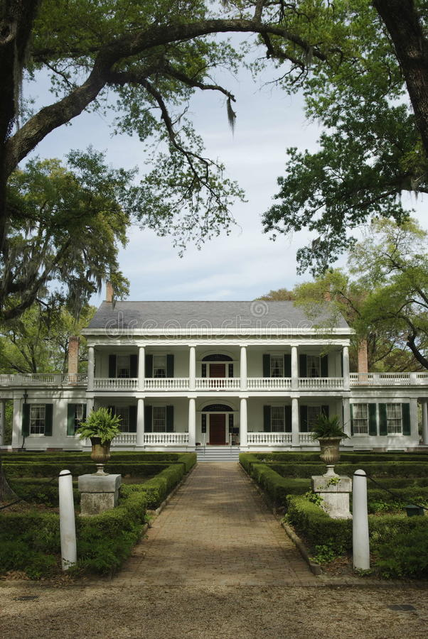 Rosedown Plantation Home. Rosedown Plantation located in St. Francisville, Louisiana royalty free stock photography