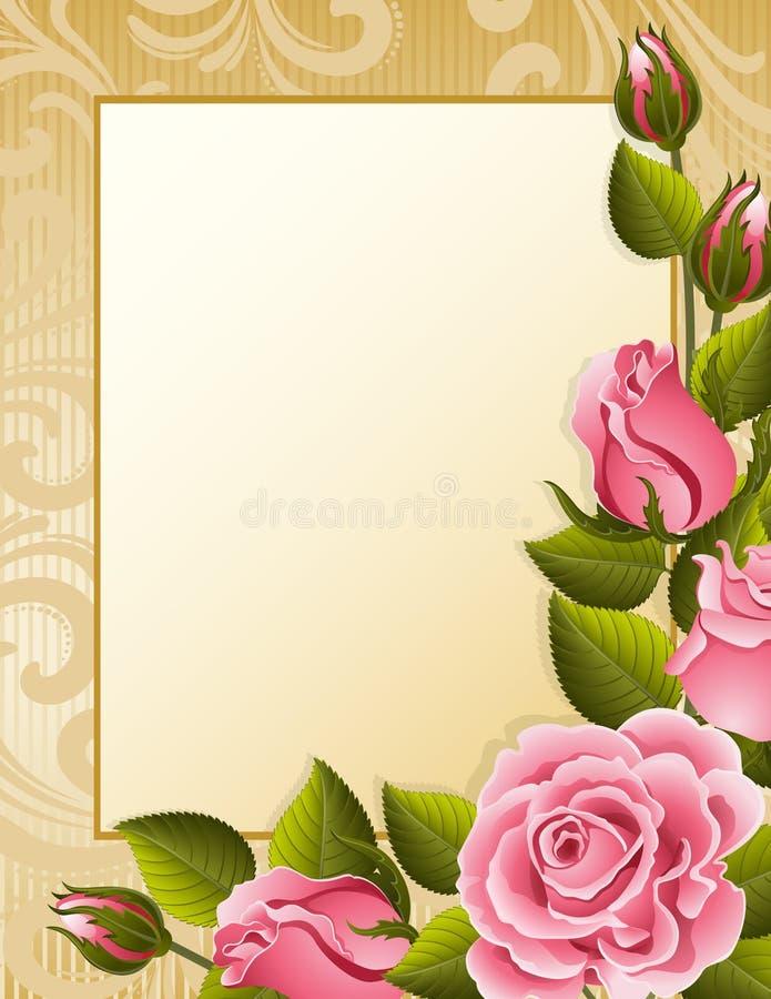 Rosehintergrund stock abbildung