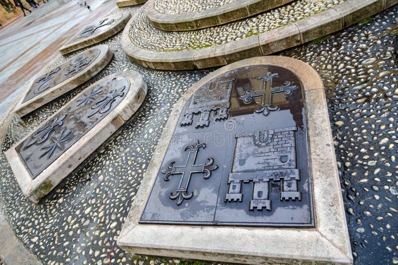Rosel Square en San Blas Soria Spain stock foto's