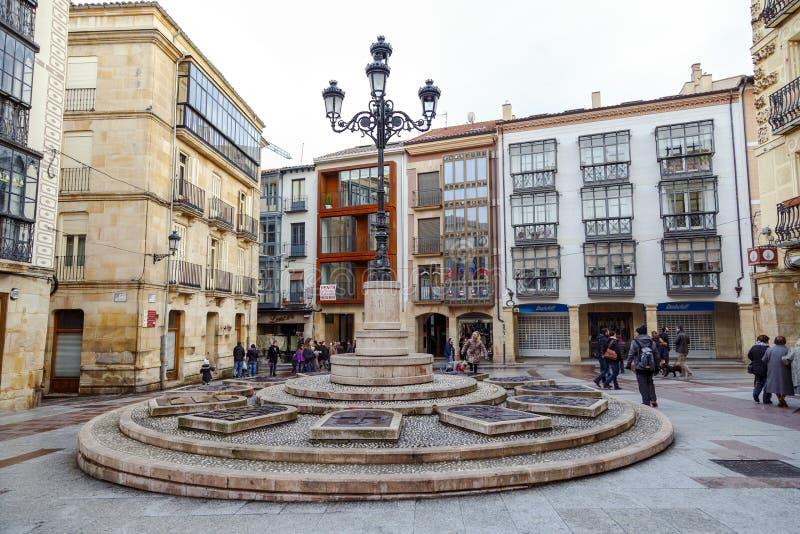 Rosel Square en San Blas Soria Spain royalty-vrije stock afbeeldingen