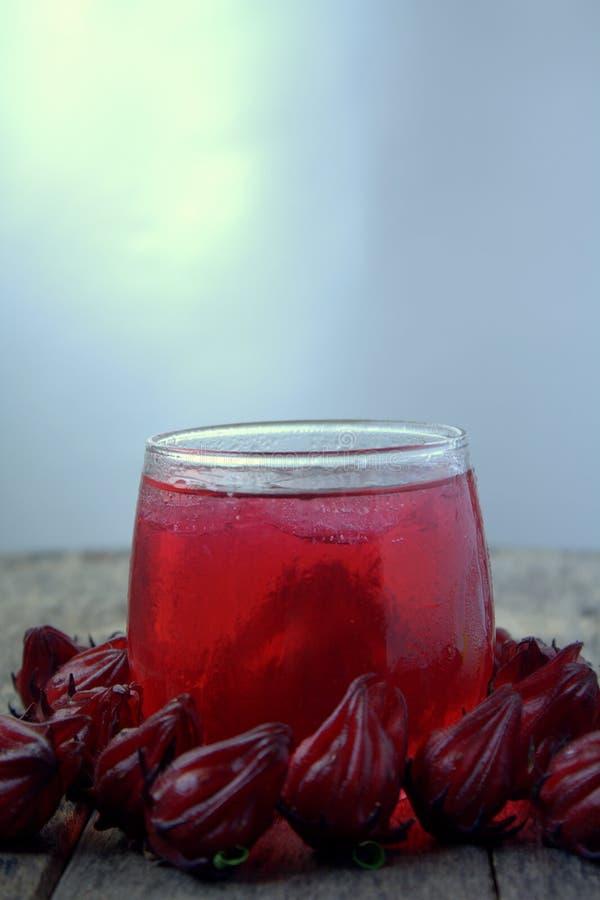 从Rosella或roselle果子的新饮料 图库摄影