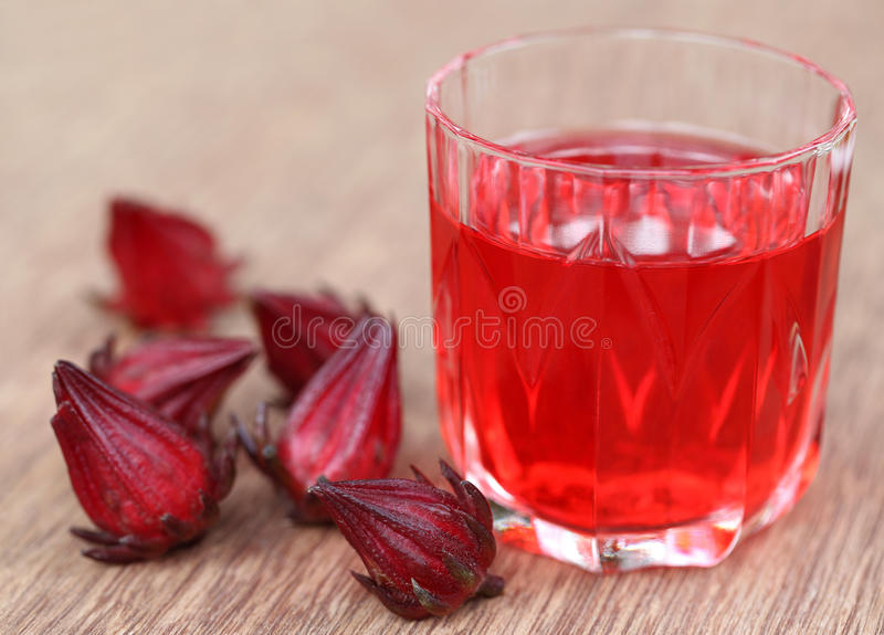 Roselle with drink royalty free stock photos