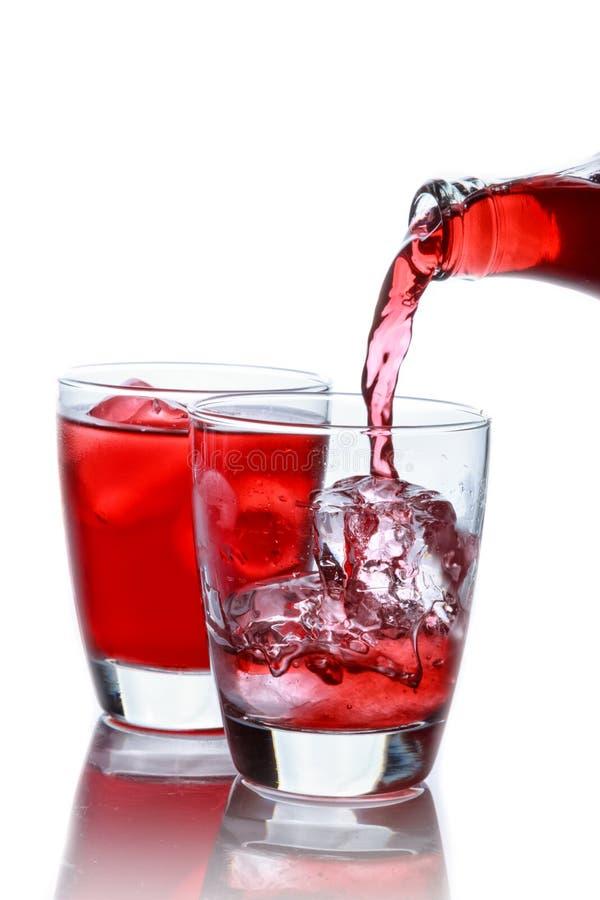 Roselle mocktail napój z poślubnika sabdariffa lub roselle owoc zdjęcia royalty free