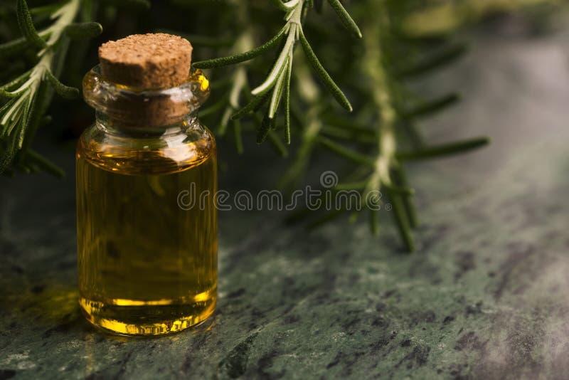 rosemary эфирного масла стоковая фотография rf