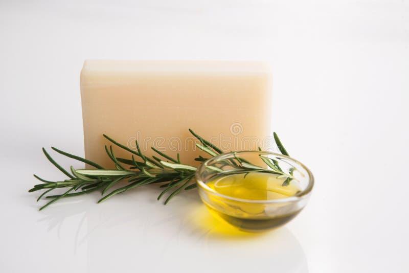 Rosemary Handmade Soap imagenes de archivo