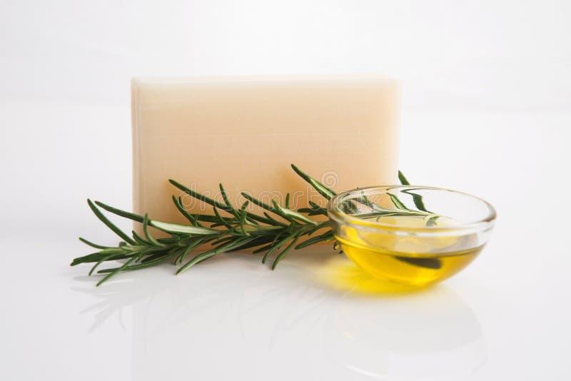 Rosemary Handmade Soap imagen de archivo libre de regalías
