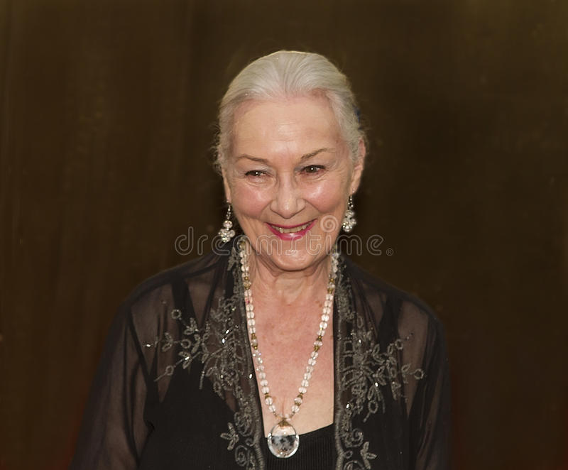 Rosemary Harris at the 64th Annual Tonys in 2010. Iconic actress Rosemary Harris arrives on the red carpet for the 64th Annual Tony Awards at Radio City stock photo