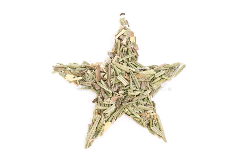 Rosemary isolated in star shape stock photography