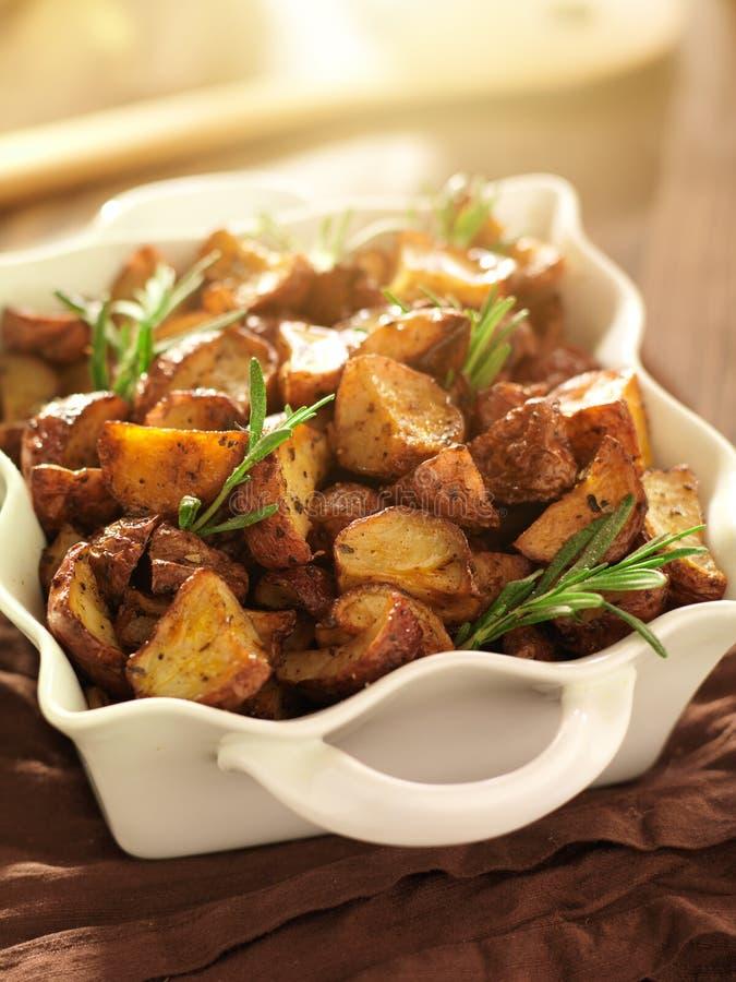 Rosemary roosterde aardappels royalty-vrije stock fotografie