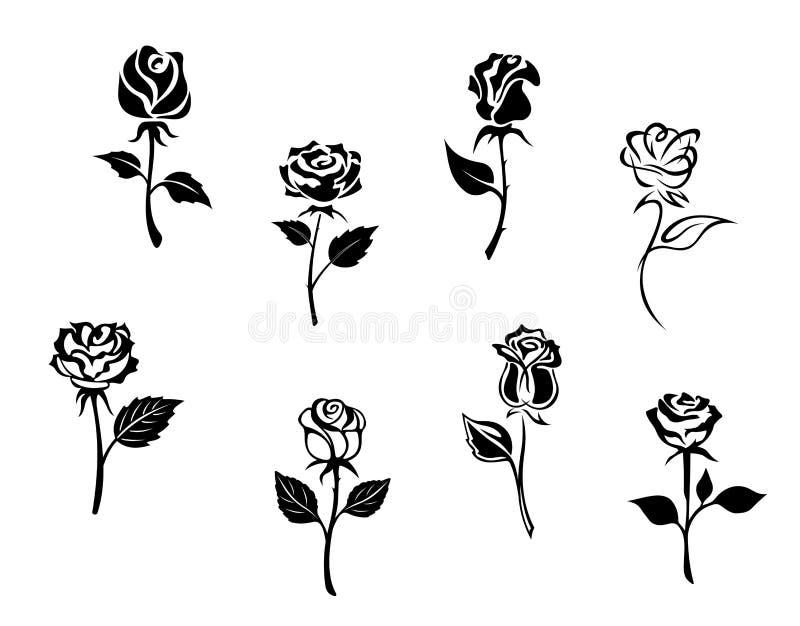 Rosen-Blumen lizenzfreie abbildung