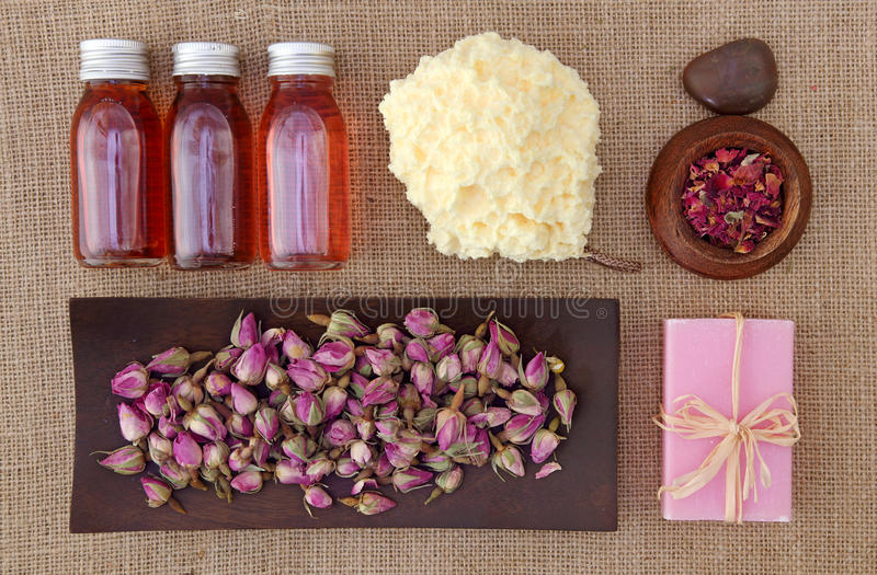 Rosen-Blumenblattbadekurort lizenzfreies stockfoto