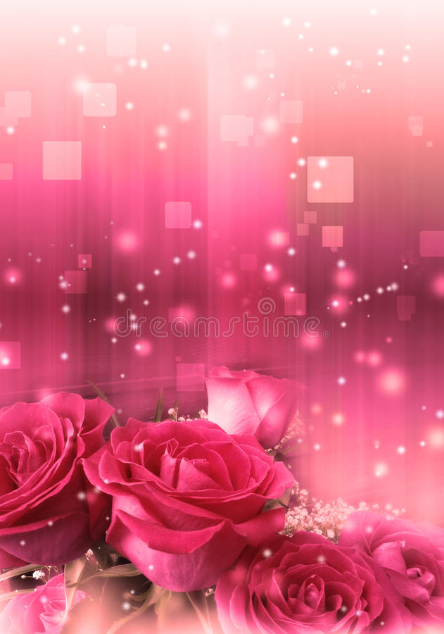 Rosen in einem magischen Licht vektor abbildung