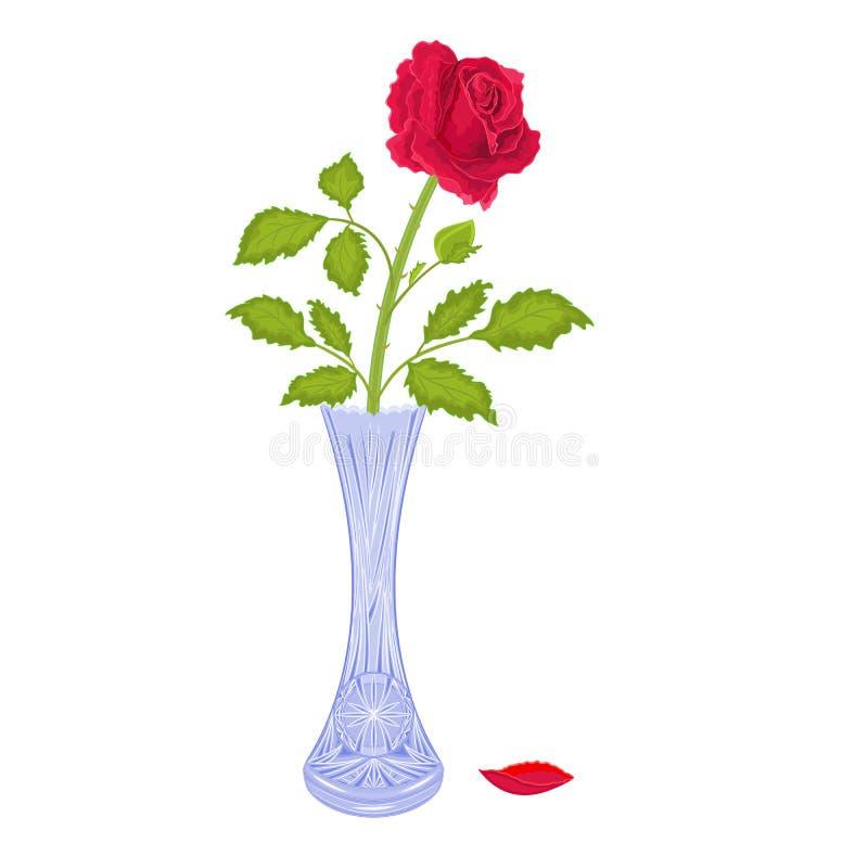 Rosen in einem Vase lizenzfreie abbildung