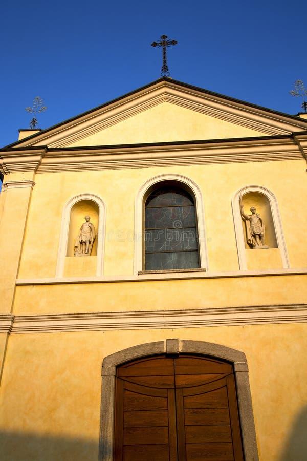 Rosen-Fenster Italien Lombardei in der samarate alten Kirche stockbilder
