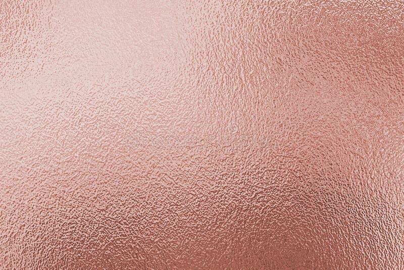Rosen-Goldfolien-Beschaffenheitshintergrund stockfoto