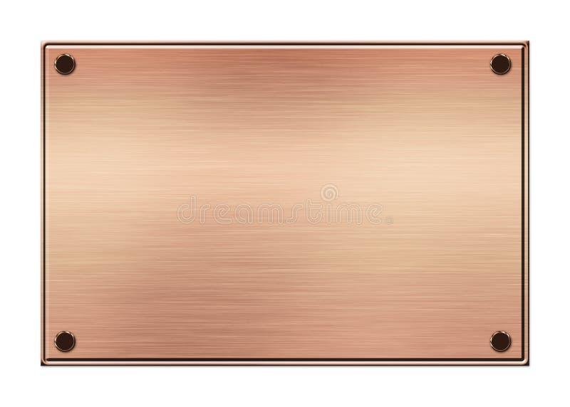 Rosen-Goldmetallplatte lizenzfreie abbildung