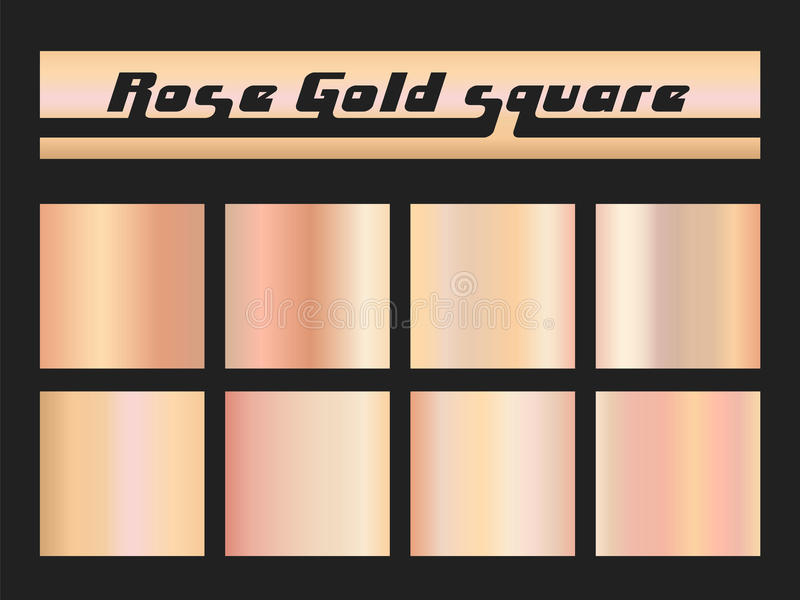 Rosen-Goldsteigungsquadrat lizenzfreie abbildung