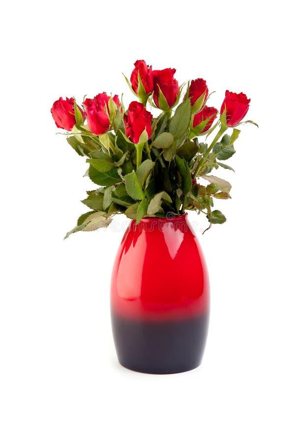 Rosen im Vase lizenzfreies stockfoto