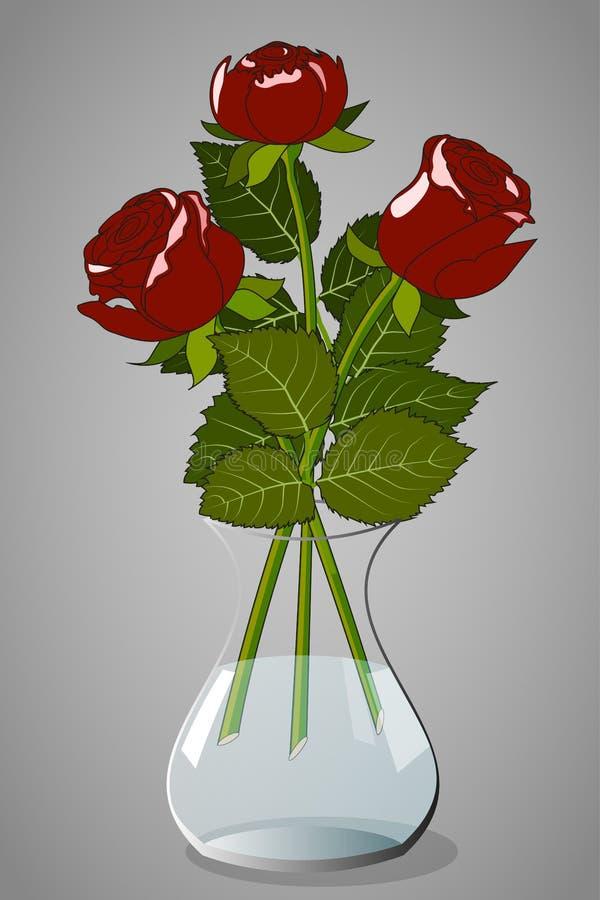 Rosen im Vase stock abbildung