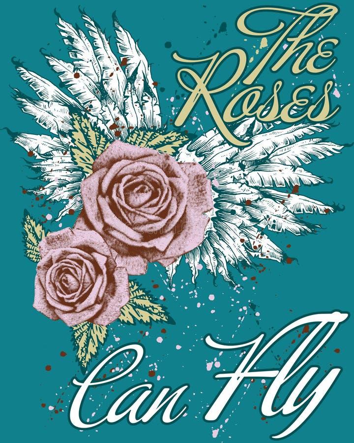 Rosen können fliegen stock abbildung