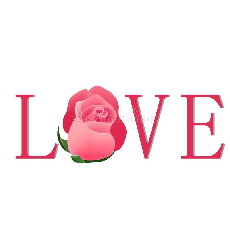 Rosen-Liebe stock abbildung