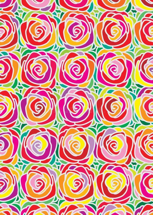 Rosen-Muster lizenzfreie abbildung