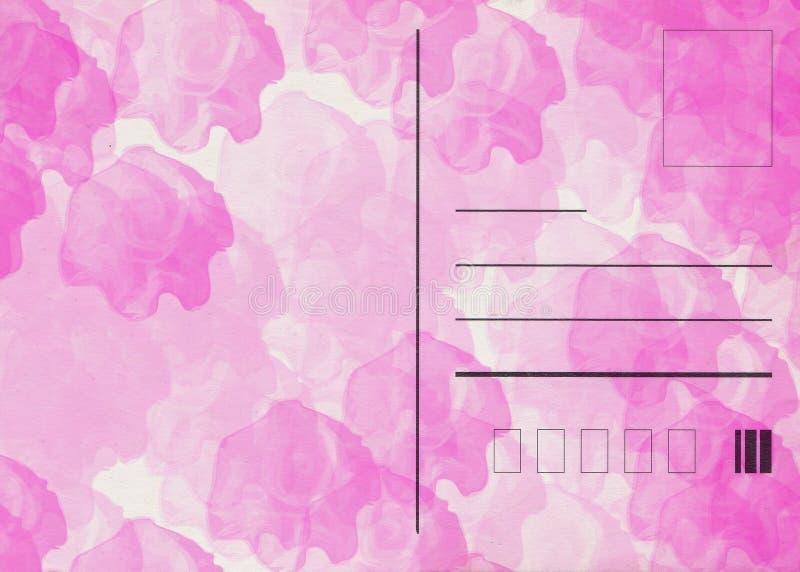 Rosen-Postkarte lizenzfreie abbildung
