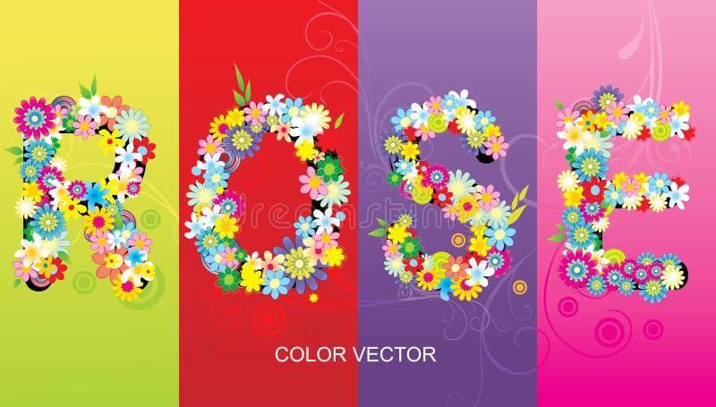 Rosen-Wort vektor abbildung