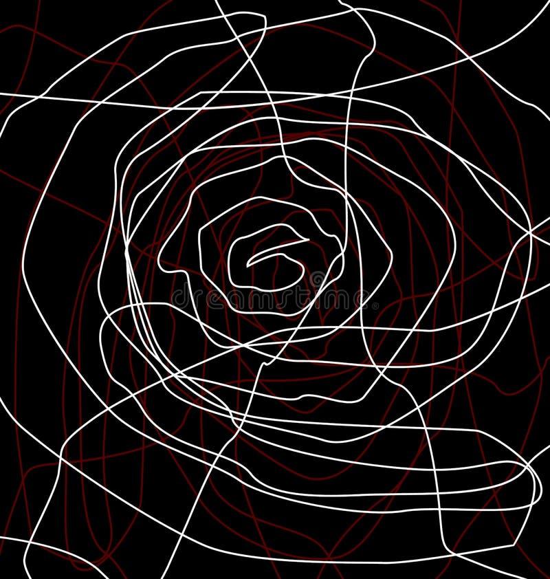 Rosen-Zeile stock abbildung