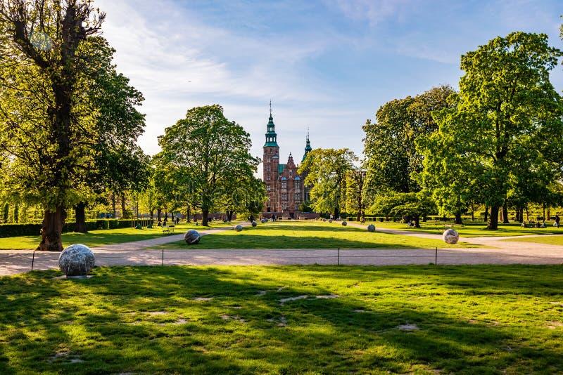The Rosenborg Castle in Copenhagen, Denmark. Dutch Renaissance style stock images
