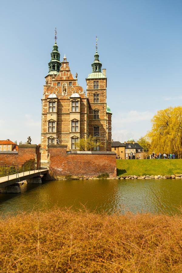 Rosenborgkasteel - bouw door Koning Christian IV in Kopenhagen stock foto