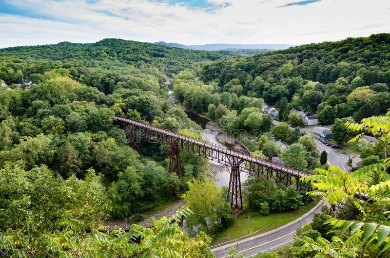 Rosendale, NY kobyłka od Joppenbergh góry fotografia royalty free