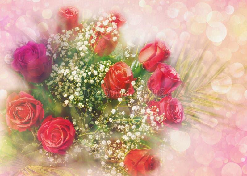 Rosengrüßkarte stockfoto