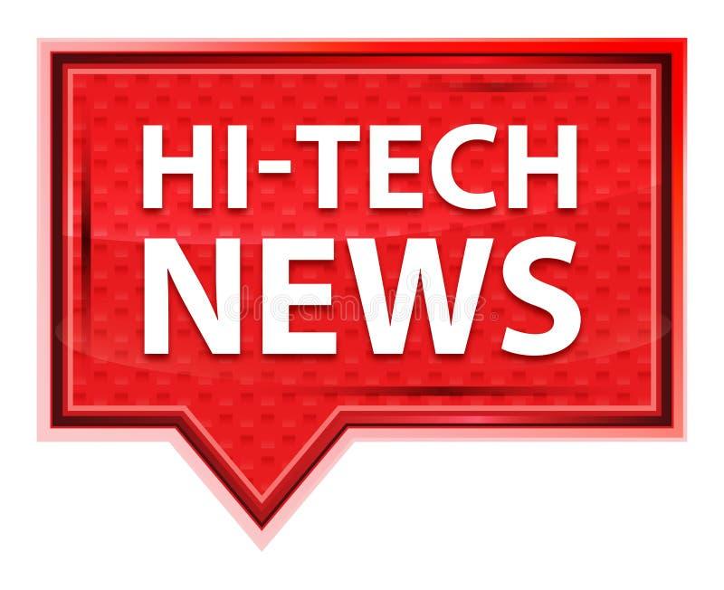 Rosenrosa-Fahnenknopf der High-Techen Nachrichten nebelhafter lizenzfreie abbildung