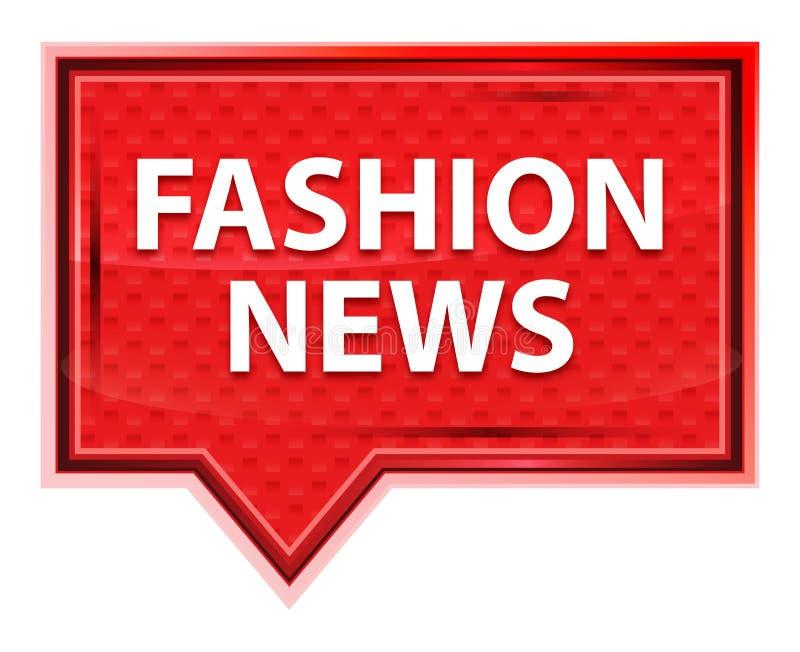 Rosenrosa-Fahnenknopf der Mode-Nachrichten nebelhafter lizenzfreie abbildung