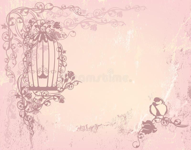 Roseraie de vintage illustration stock