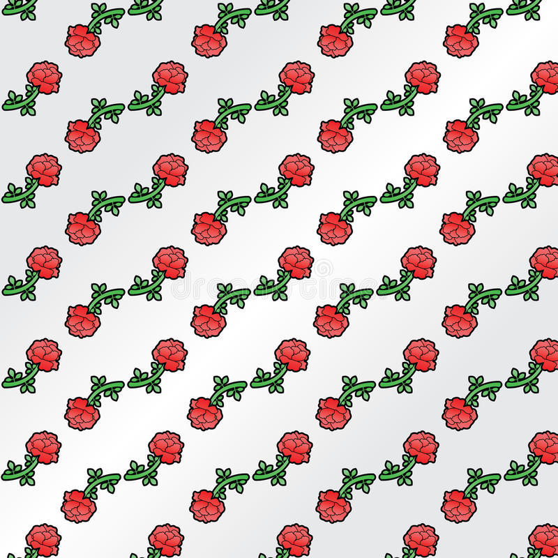Download Roses stock vector. Illustration of simple, pattern, floral - 20138796