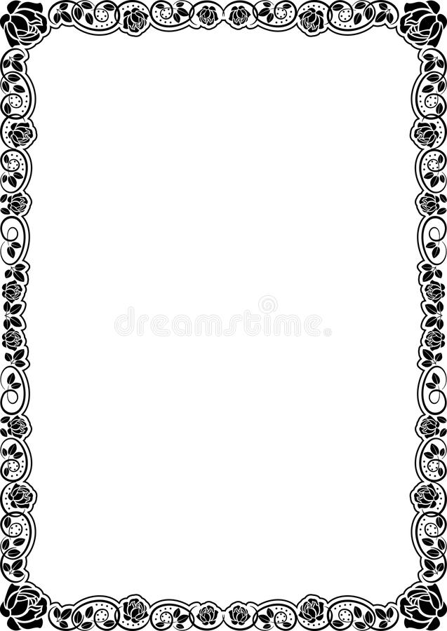 Download Roses stock vector. Image of drawn, plant, black, silhouette - 22713333