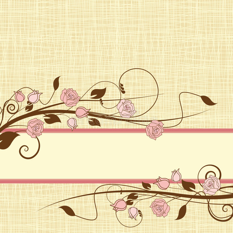 Download Roses stock vector. Image of decoration, pretty, love - 25484256