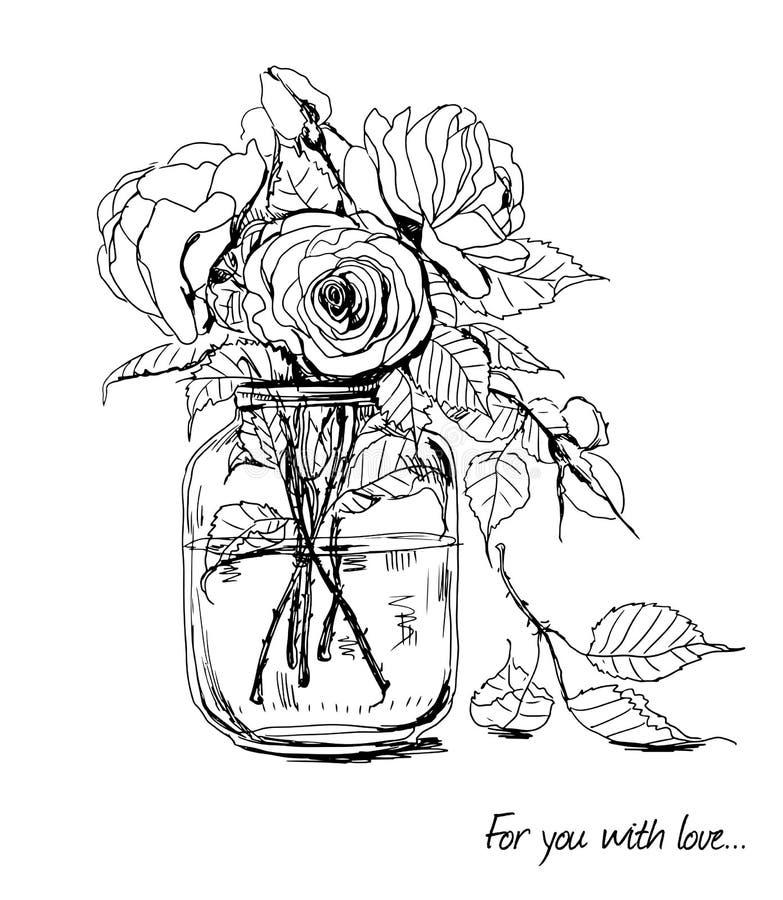 Roses illustration de vecteur